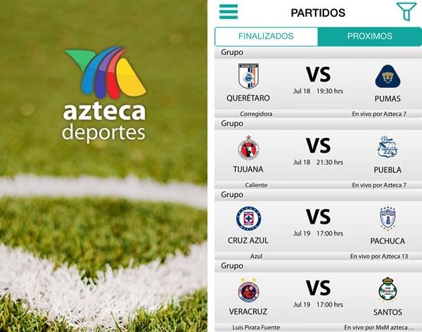 5 apps para seguir el torneo apertura 2014 de la liga MX - app-azteca-deportes-futbol-mexicano-apertura-2014