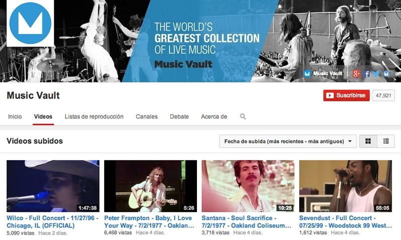 Disfruta de conciertos de rock completos en YouTube gracias a Music Vault - conciertos-de-rock-youtube-music-vault