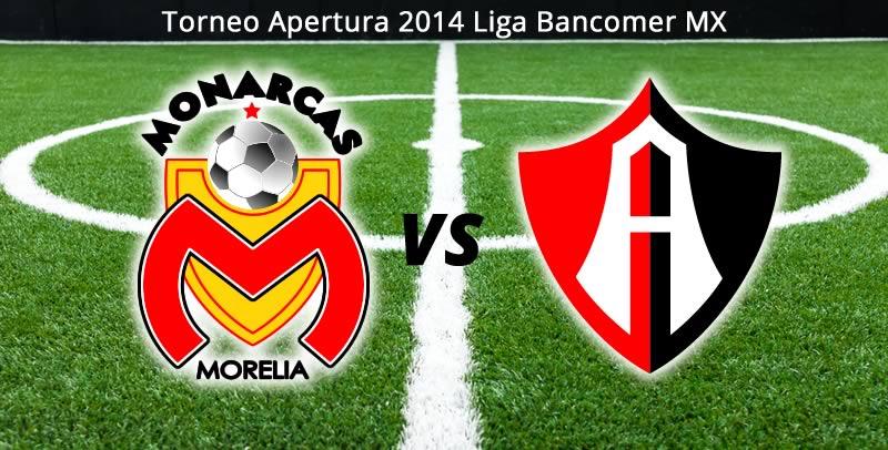 morelia vs atlas en vivo apertura 2014 Morelia vs Atlas en vivo, Jornada 2 del torneo Apertura 2014