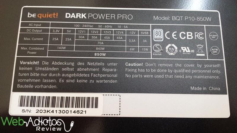 Be Quiet! Dark Power Pro 10 850W [Reseña] - 131