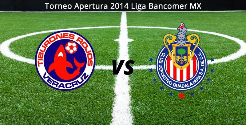 Chivas vs Veracruz, Jornada 6 del Apertura 2014 - Chivas-vs-Veracruz-en-vivo-Apertura-2014