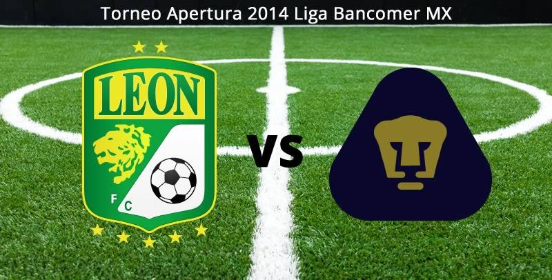 León vs Pumas, Jornada 5 del Apertura 2014 - Leon-vs-Pumas-en-vivo-Apertura-2014