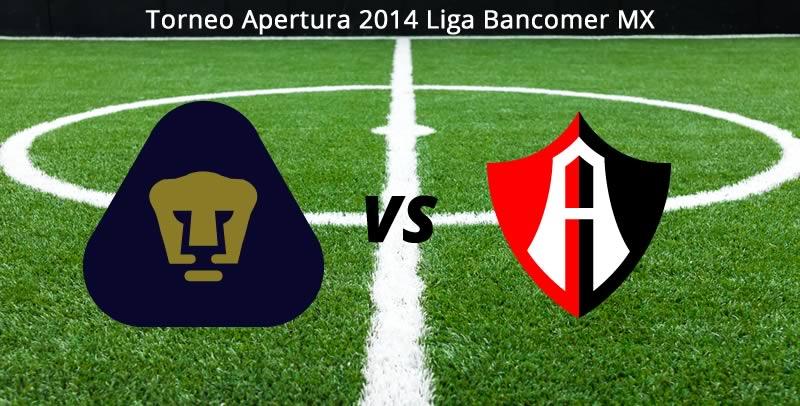 Pumas vs Atlas en vivo Apertura 2014 Pumas vs Atlas, Jornada 4 del Torneo Apertura 2014