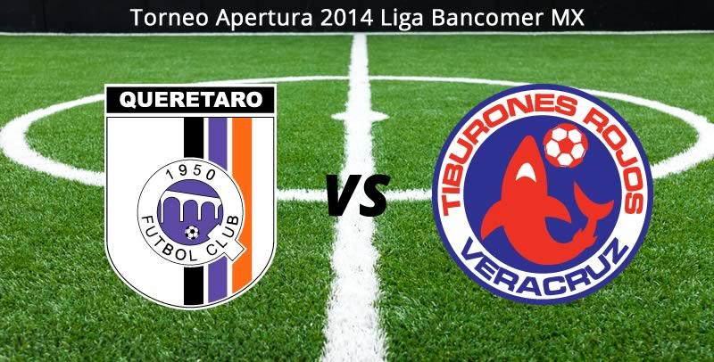 Querétaro vs Veracruz, Jornada 5 del Apertura 2014 - Queretaro-vs-Veracruz-en-vivo-Apertura-2014