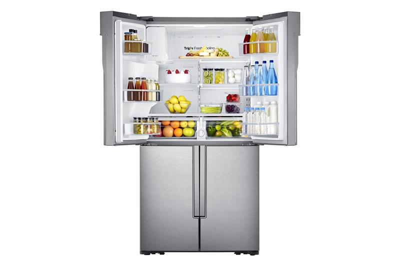 Refrigerador Samsung T9000 Nueva línea de refrigeradores y microondas Samsung