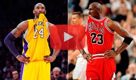 Increíble video con las similitudes entre Michael Jordan y Kobe Bryant
