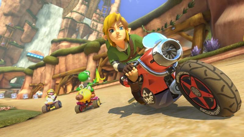 Link de The Legend of Zelda llega por primera vez a Mario Kart 8 como DLC - link-mario-kart-8-800x450
