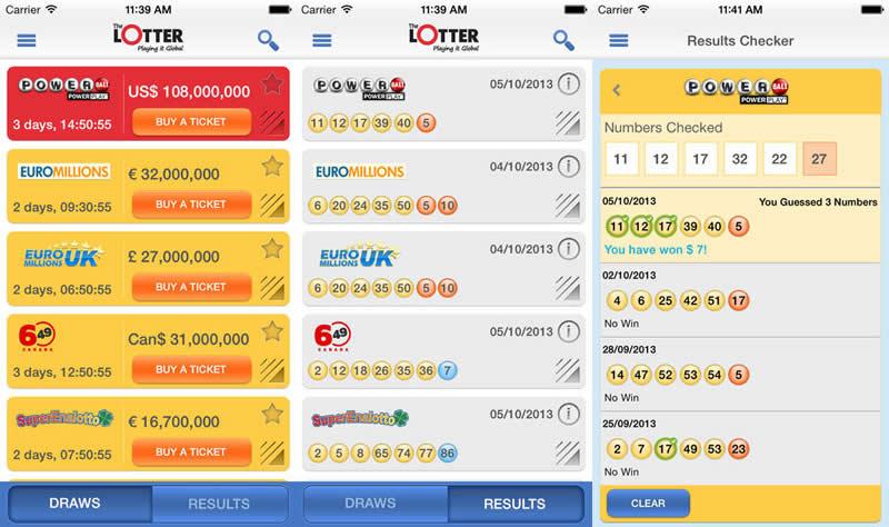 Conoce los resultados de lotería con theLotter para iPhone, iPad y Android - theLotter