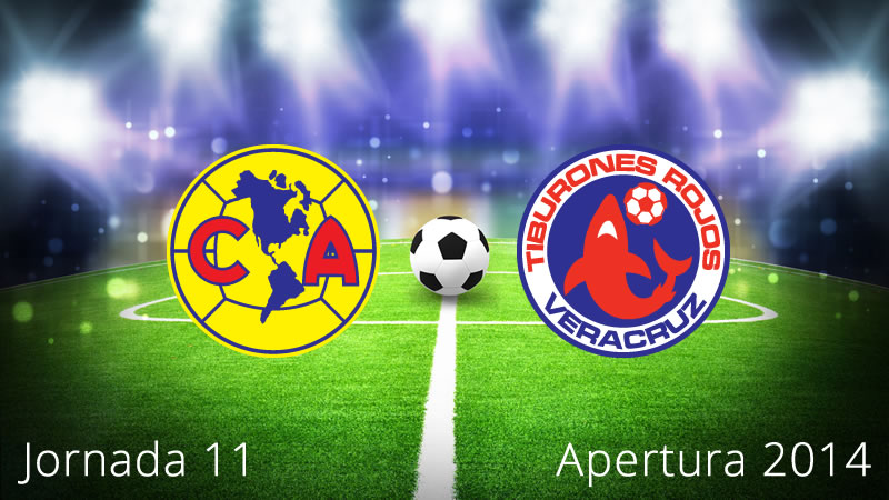 América vs Veracruz, Jornada 11 Apertura 2014 - America-vs-Veracruz-en-vivo-Apertura-2014-Jornada-11