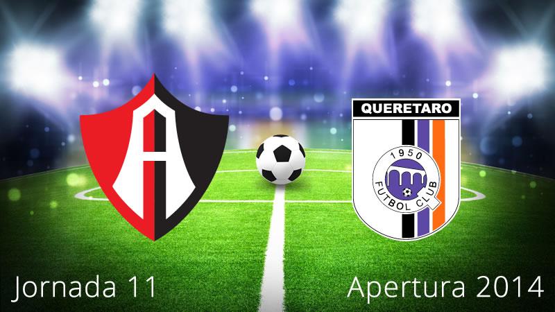 Atlas vs Querétaro, Jornada 11 Apertura 2014 - Atlas-vs-Queretaro-en-vivo-Apertura-2014-Jornada-11