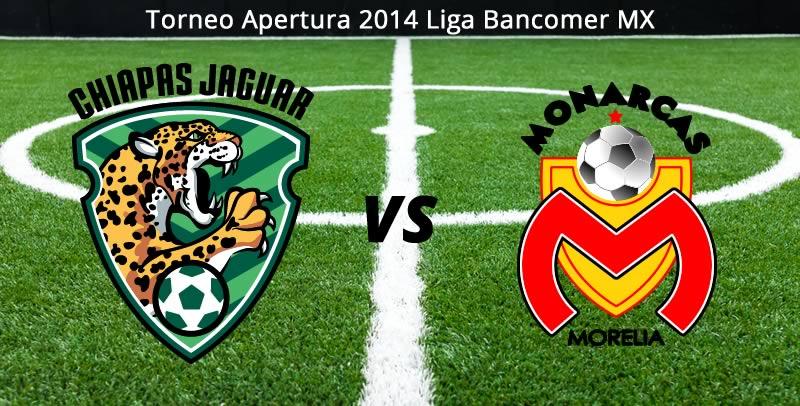 Chiapas vs Morelia en vivo Apertura 2014 Chiapas vs Morelia en la Jornada 8 del Apertura 2014