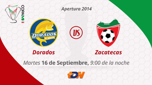 Dorados vs Mineros, Copa MX Apertura 2014 (IDA) - Dorados-vs-Mineros-de-Zacatecas-en-vivo-Copa-MX-Apertura-2014