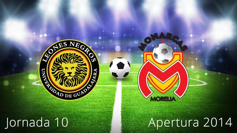 Leones Negros vs Morelia, Jornada 10 Apertura 2014 - Leones-Negros-vs-Morelia-en-vivo-Apertura-2014-Jornada-10