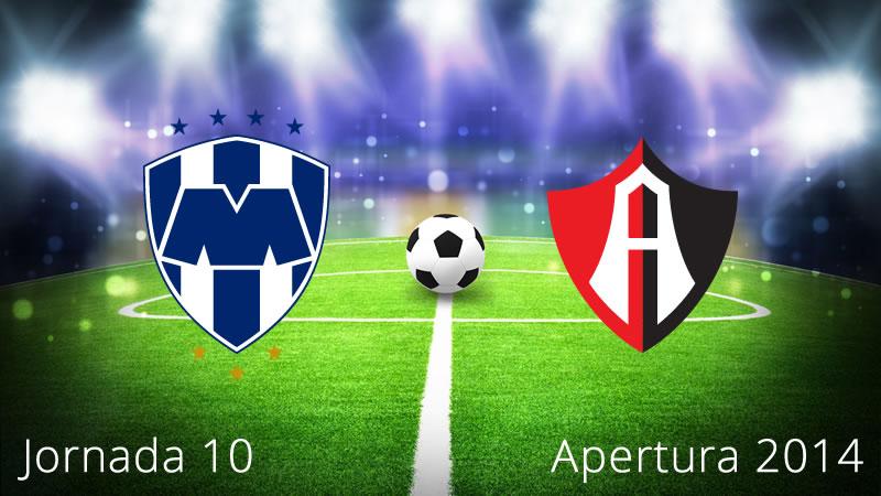 Monterrey vs Atlas, Jornada 10 Apertura 2014 - Monterrey-vs-Atlas-en-vivo-Apertura-2014-Jornada-10