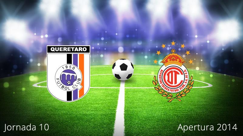 Querétaro vs Toluca, Jornada 10 Apertura 2014 - Queretaro-vs-Toluca-en-vivo-Apertura-2014