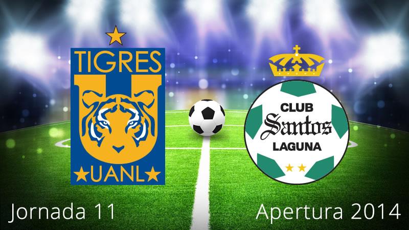 Tigres vs Santos, Jornada 11 Apertura 2014 - Tigres-vs-Santos-en-vivo-Apertura-2014-Jornada-11