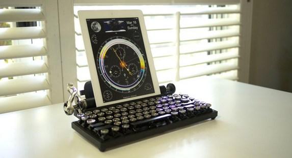 Conoce el teclado Qwerkywriter que simula una máquina de escribir - teclado-maquina-de-escribir