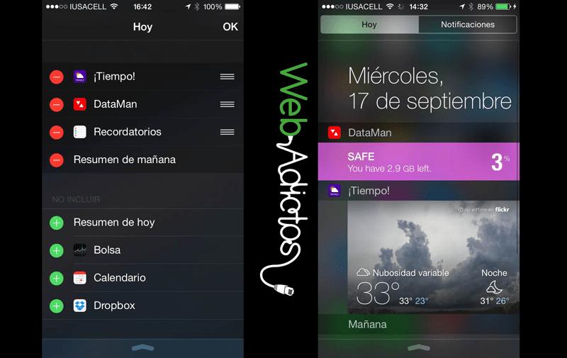 Cómo añadir widgets al Centro de Notificaciones de iOS 8 - widgets-ios-8