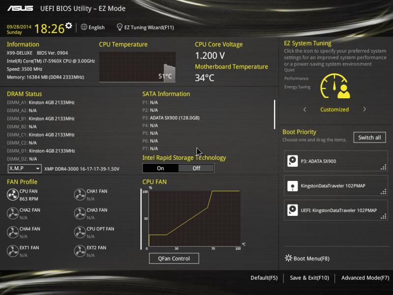 Motherboard ASUS X99 Deluxe [Reseña] - BIOS-11-800x600