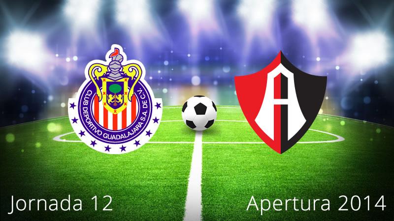 Chivas vs Atlas, Jornada 12 Apertura 2014 - Chivas-vs-Atlas-en-vivo-Apertura-2014-Jornada-12