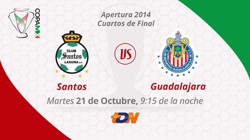 Chivas vs Santos, Copa MX Apertura 2014 - Chivas-vs-Santos-en-vivo-Copa-MX-Apertura-2014