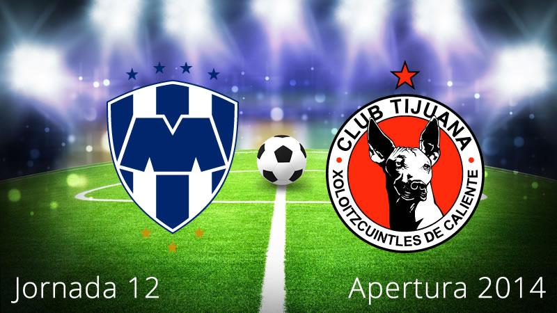Monterrey vs Tijuana, Jornada 12 Apertura 2014 - Monterrey-vs-Tijuana-en-vivo-Apertura-2014-Jornada-12