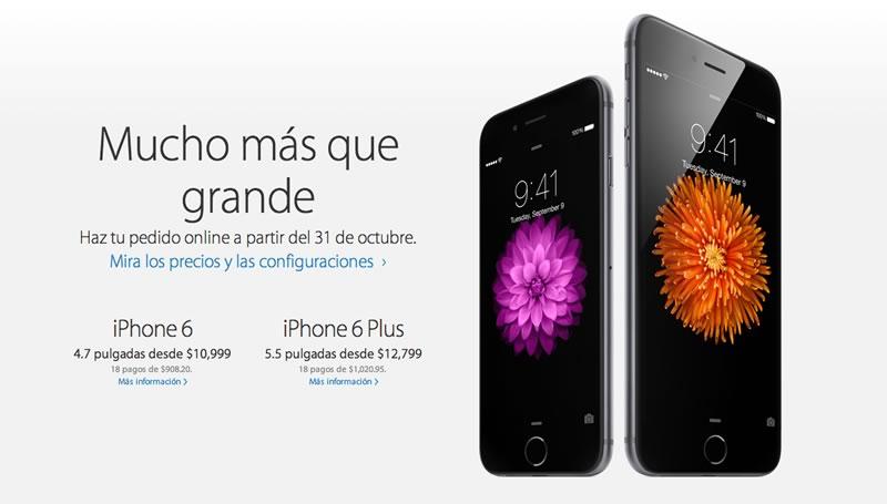 Precios del iPhone 6 y 6 Plus en México publicados por Apple - Precios-del-iPhone-6-en-Mexico