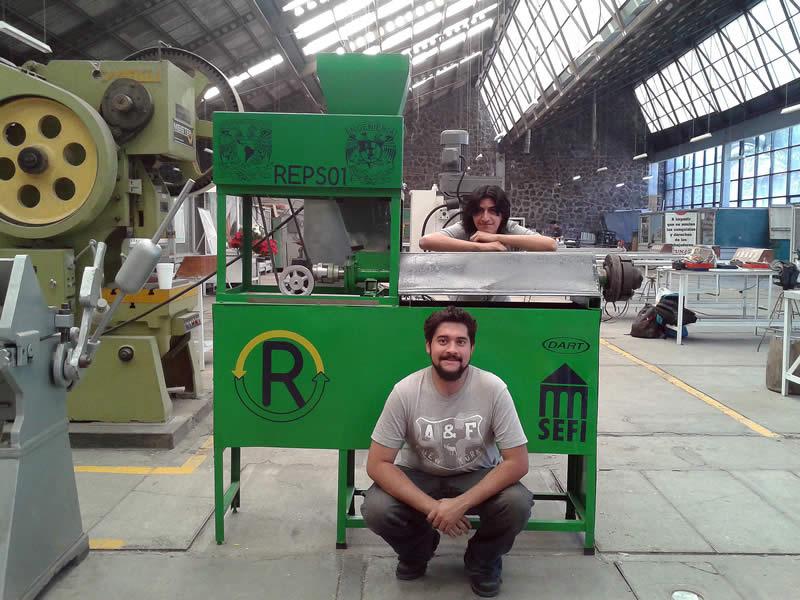 Diseña empresa mexicana máquina que transforma unicel en plástico rígido - REPS01-Maquina-de-Reciclaje-de-Unicel