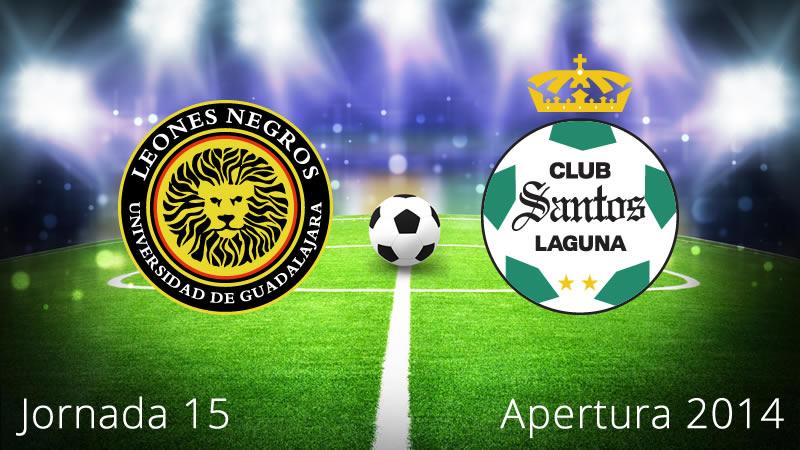 Santos vs Leones Negros, Jornada 15 del Apertura 2014 - Santos-vs-Leones-Negros-UDG-en-vivo-Apertura-2014