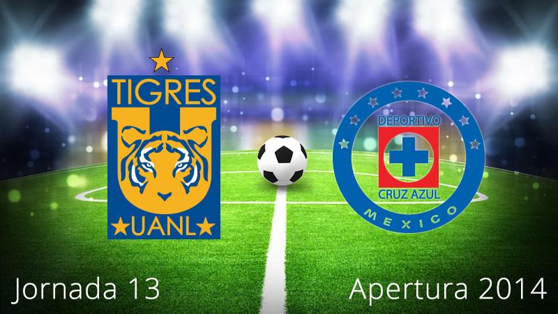 Tigres vs Cruz Azul, Jornada 13 Apertura 2014 - Tigres-vs-Cruz-Azul-en-vivo-Apertura-2014