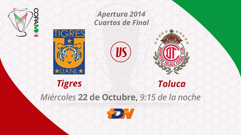 Tigres vs Toluca, Copa MX Apertura 2014 - Tigres-vs-Toluca-en-vivo-Copa-MX-Apertura-2014