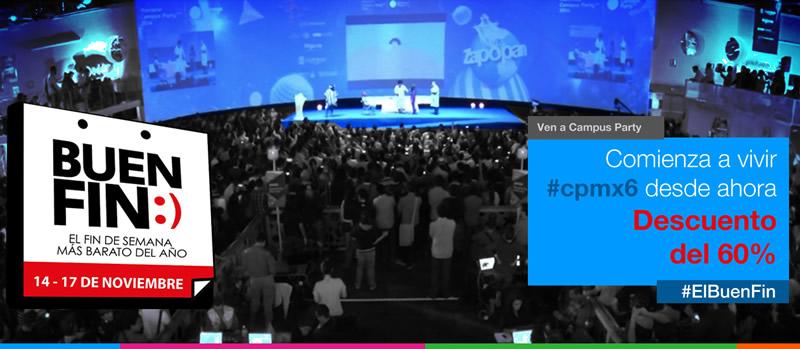 Campus Party México le entra al Buen Fin 2014 con un 60% de descuento en sus entradas - Campus-Party-Mexico-2015-Descuento-Buen-FIn-2014