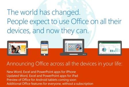 Office gratis para iPhone ya es una realidad