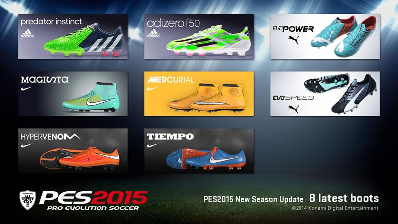 Pro Evolution Soccer 2015 prepara su salida este 13 de noviembre - PES-2015-actualizacion-botas-nuevas