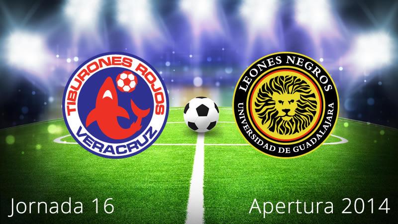 Veracruz vs Leones Negros, Jornada 16 del torneo Apertura 2014 - Veracruz-vs-Leones-Negros-UDG-en-vivo-Apertura-2014