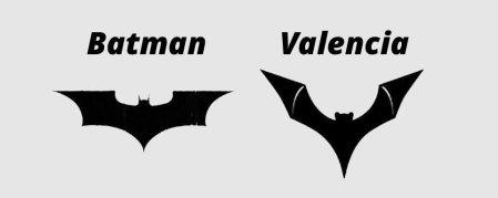 Valencia CF causa molestia de DC Comics por el uso de un logo similar al de Batman