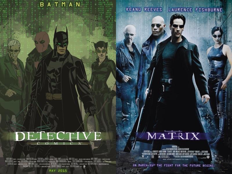 DC Comics adaptará portadas de cine a sus ediciones de marzo, ¡Conócelas! - Batman-Matrix-Movie-Poster-Covers