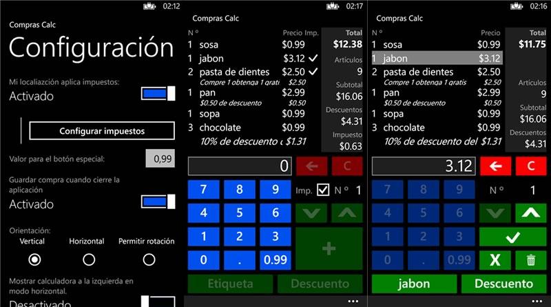 Las 10 mejores apps para Windows Phone seleccionadas por sus usuarios - Calculadora-de-Compras-Windows-Phone