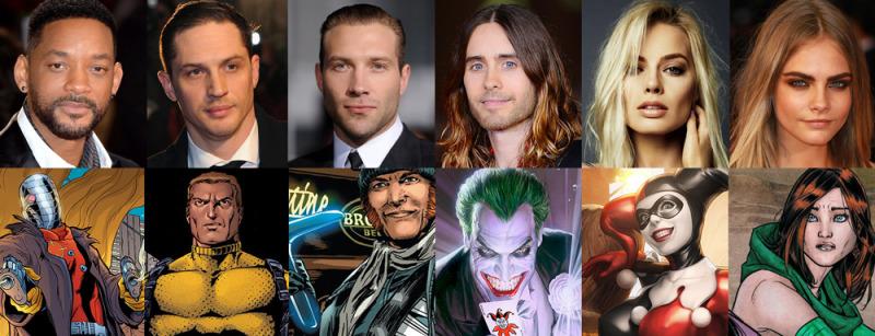 ¡Confirmado el elenco de Suicide Squad! Jared Leto, Will Smith y Tom Hardy - Elenco-de-Suicide-Squad-800x307