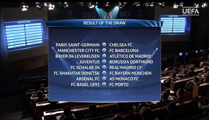 Definidos los partidos de octavos de final de la Champions League - Partidos-de-octavos-de-la-Champions-League