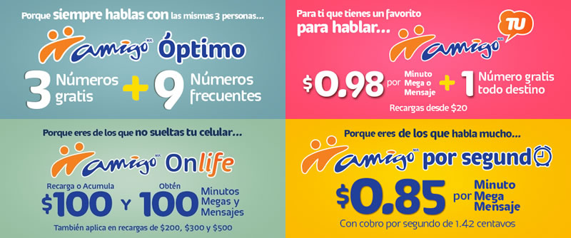 Amigo de Telcel presenta sus nuevas modalidades - Planes-Amigo-de-Telcel