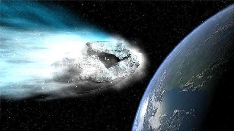 Ensayan como reaccionar ante la caída de un meteorito en la Tierra - asteroide-contra-la-tierra