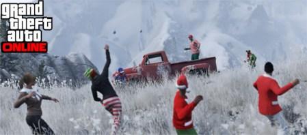 Grand Theft Auto V online agrega peleas con bolas de nieve