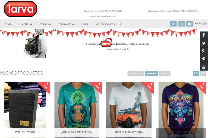 LARVA.MX marca de ropa con tendencia holística contemporánea. - larva-sitio-web