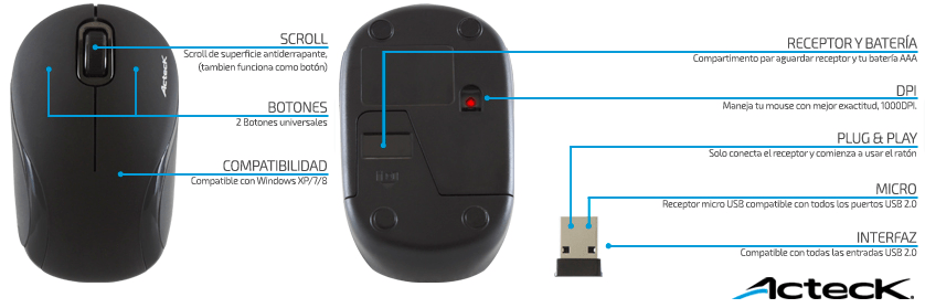 Mouse inalámbricos Xplotion de Acteck ¡Coloridos y accesibles! [Reseña] - minimouses-optico-inalambrico-Xplotion