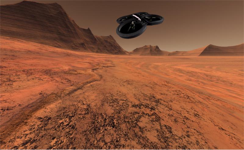 Planean incluir drones en las próximas misiones a Marte - drones-a-marte