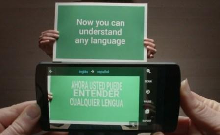 Google traductor permitirá traducir textos con la cámara del teléfono