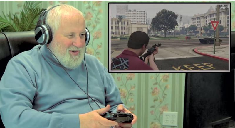 Adultos mayores jugando a Grand Theft Auto V [Video] - jugando-al-GTA-V