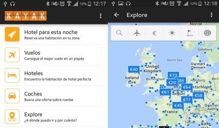 """KAYAK actualiza su app y agrega """"Hotel para esta noche"""""""