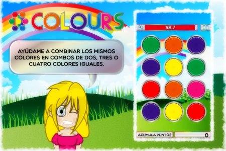 Colours, un juego para Android de habilidad y destreza